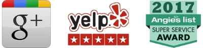 google, yelp and angie's list logos