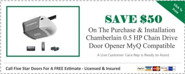 Chamberlain 0.5 HP Chain Drive Garage Door Opener MyQ Compatible