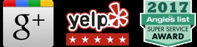 google, yelp, angies list logos